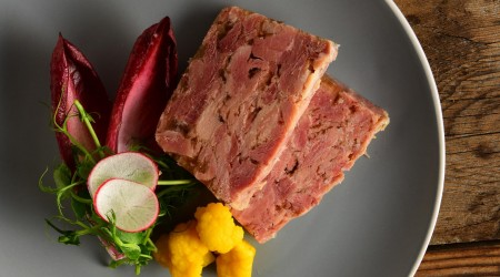 Ham Hock Terrine Sliced